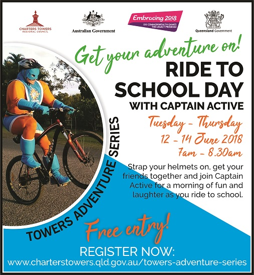 Ride to School Days Charters Towers 12, 13 & 14 June